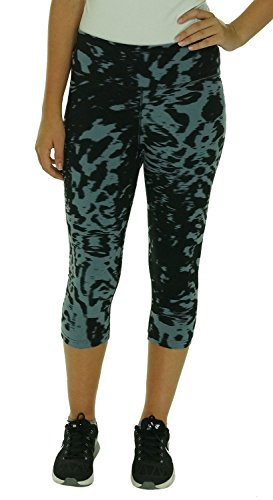 Nike Women's Legend Dri-FIT Cotton Filter Tight Fit Capris, Blue Graphite/Black, Small