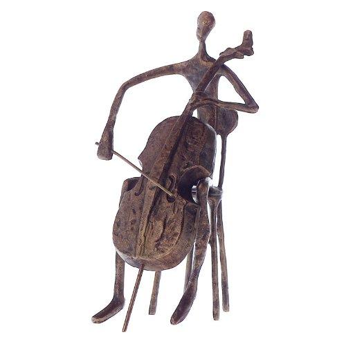 Gift House Cello Player Statue Contemporary (Bronze) ()