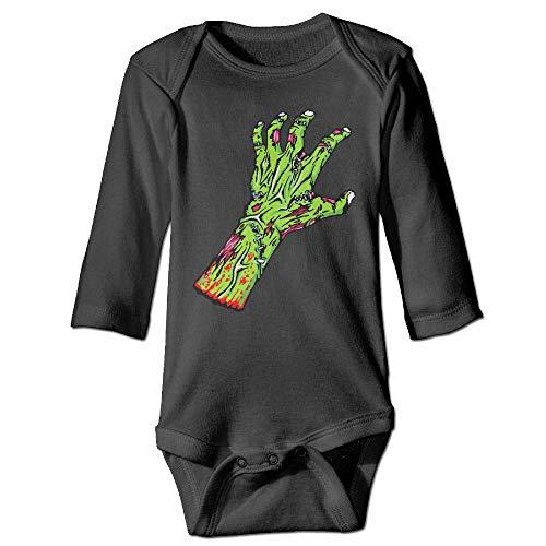 Clarissa Bertha Green Zombie Hand Baby Newborn Long Sleeve Onesies Bodysuits ()
