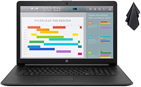 "2021 Newest HP Premium Business Laptop, 17.3"" HD+ Display, AMD Ryzen 5 4500U 6-Core Processor Up to 4.0 GHz (Beats i7-10510U), 16GB RAM, 1TB SSD, DVD-RW, Webcam, HDMI, Black, Win 10 + Oydisen Cloth WeeklyReviewer"