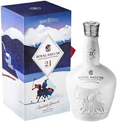 Royal Salute Snow Polo Edition whisky escocés de lujo - 700ml