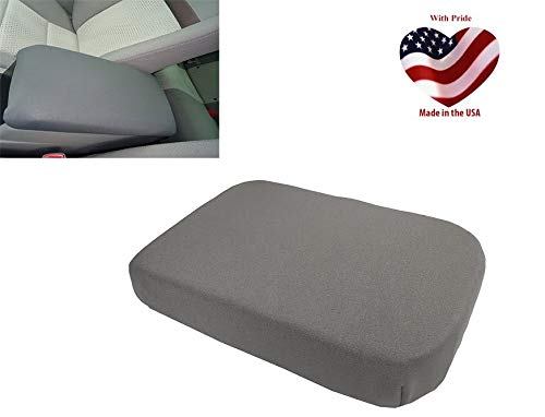 (Car Console Covers Plus Made in USA fits Nissan Frontier 2015-2019 Neoprene Center Armrest Cover for Center Console Lid Dark Gray)