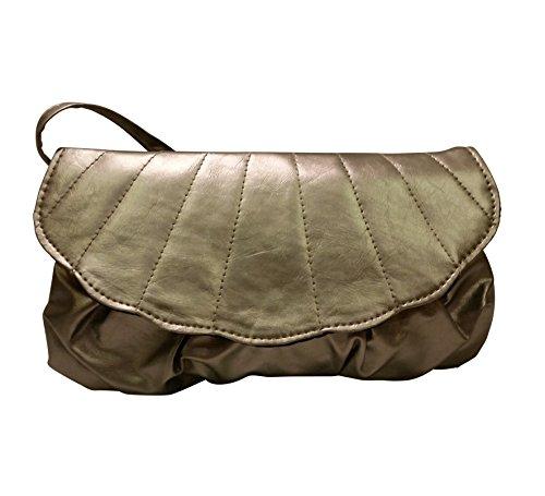 Avon Silver Cross Bag Body Edge Scalloping Details