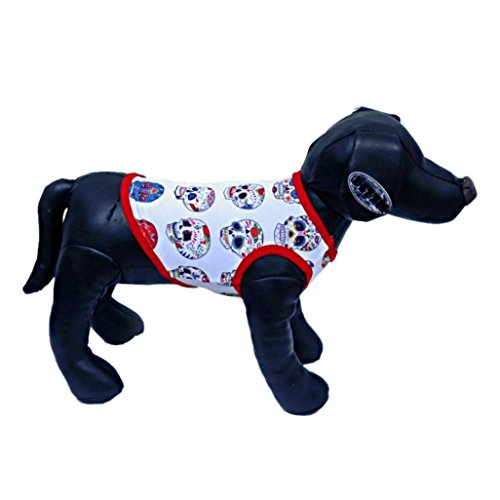 Dog Clothes,Neartime Small Doggy Cat Clothing Skull T-Shirt Cute Vest Halloween (XS) (Doggy Clothing)