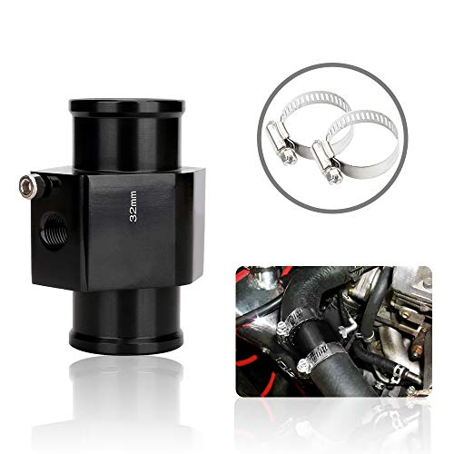 (Water Temperature Sensor Adapters Joint Pipe Hose Sensor Gauge Adapter 32mm)