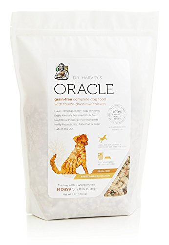Dr. Harvey's Oracle Freeze-Dried Raw Complete Diet for Dogs, Grain-Free Chicken, 6-Pound Bag