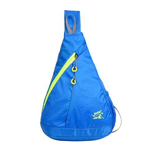 Lady Bags Women Or Backpacks Daypacks Girl Triangle Crossbody Rope Shoulder Man Hiking Teens Sling For Catop Chest Rucksack Blue Multipurpose q1ORwa