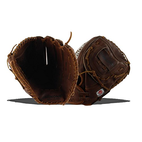 Infielders Glove Walnut Leather - Nokona AMG175-W-CW 12-Inch Closed Web Walnut Leather Baseball Glove (Right-Handed Throw)