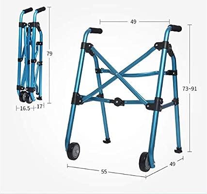 PXSRANY Andador para Adultos,Aluminio,Plegable,2 Ruedas ...