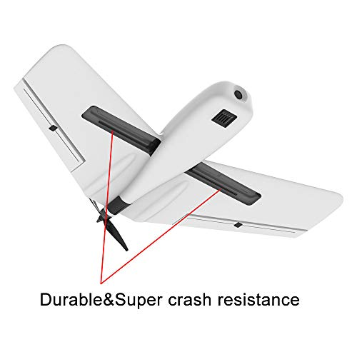 Hisoul ZOHD Dart Sweepforward Delta Wing Glider FPV EPP Racing Wing RC Airplane PNP (White) by Hisoul (Image #4)
