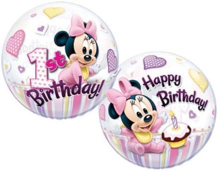 Minnie Mouse 1er cumpleaños globo burbuja - 22 pulgadas/56 cm ...