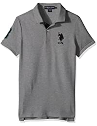 Men's Slim Fit Solid Short Sleeve Pique Polo Shirt
