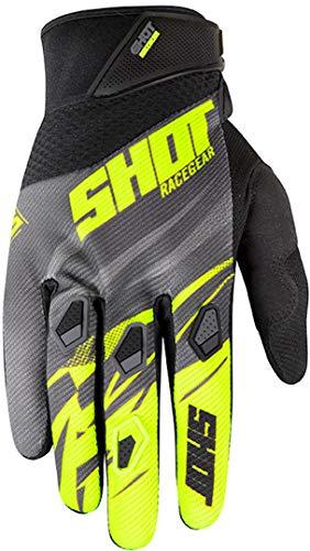 SHOT paire de gants KID Devo Ventury noir gris néon jaune Taille 6-7 ans