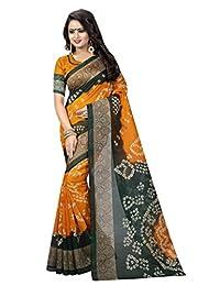 Shonaya. Women's Bandhani Bhaglpuri Art Silk Printed Saree Sari