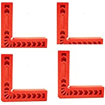 "Plastic 6"" Angle Positioning 90 Degree Angles Squares (pack of 4)"