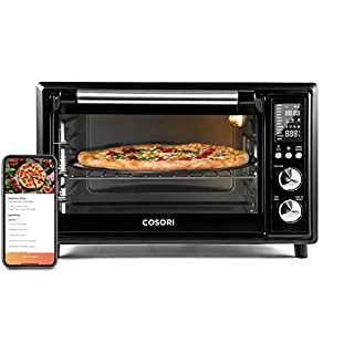 COSORI 12-in-1 Air Fryer Toaster Oven Combo, Countertop Rotisserie & Dehydrator for Chicken, Pizza and Cookies, 100 Recipes&6 Accessories Included, Work with Alexa&VeSync APP, 30L, 31.7 QT-Black Smart