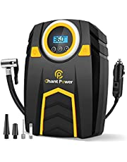 Air Compressor Tire Inflator,12V DC Car Tire Pump with Digital Pressure Gauge, 150PSI with Car Power Adaptor, Auto Shut Off for Car Tires, Bicycles and Other Inflatabless, C P CHANTPOWER