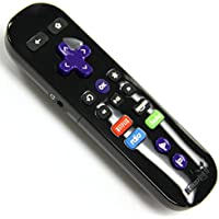 Amaz247 Enhanced Game remote w/ Headphone jack for Roku 2(model 4210), Roku 3, Roku 4, Roku Premiere+ and Roku Ultra(Generic Packaging Black)