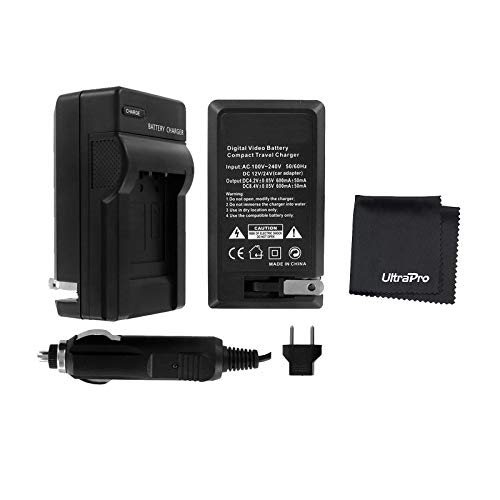 UltraPro Rapid Charger for ENEL3, ENEL3a and ENEL3e Battery w/ 110/240v Car and EU Adapters - compatible with Nikon D50, D70, D70s, D80, D90, D100, D200, D300, D300S, and D700 SLR Digital Cameras