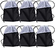 Sports Gym Bag Sack Drawstring Backpack 6 Pack Men Women 210D Polyester Available for Heat Pressing