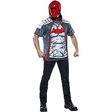 Rubies Costume Men's Arkham Knight Red Hood Costume Top, Multi, Medium