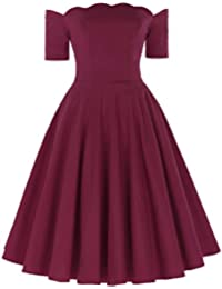 Belle Poque Womens Off Shoulder Swing Dress Party Picnic Dress