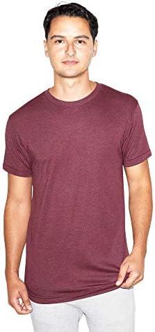 American Apparel Men's Tri-Blend Crewneck Short Sleeve Track T-Shirt, 2-Pack