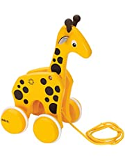 BRIO World - 30200 Pull Along Giraffe | The Perfect Playmate for Your Toddler