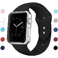 Sport Band para Apple Watch 38mm., silicona suave Sport correa de repuesto iWatch bandas para Apple reloj–Series 3, Series 2, Series 1S/M, M/L