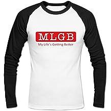 Men's MLGB My Life's Getting Better Baseball T-shirts L White
