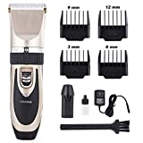 CO-Z Electric Rechargeable Pet Grooming Clipper Kits Quiet Cordless Dog Cat Hair Groomer Clippers Trimmer