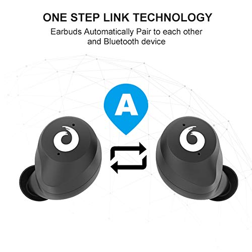 Bluetooth Earbuds True Wireless Earphones TWS Stereo HD Bluetooth 5.0 Headphones Bluetooth Headset Built-in Mic with Charging Case IPX7 Waterprood for Runing Sports Driving