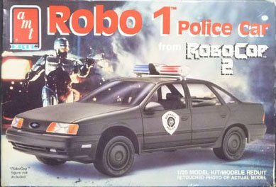 6059 AMT Robo 1 Police Car from Robo Cop 2 1/25 Scale Plastic Model Kit,Needs Assembly