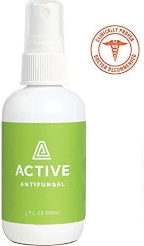 Antifungal Spray - Natural, Non-Toxic, and No Sting. Treatment for Athletes Foot, Ringworm, Foot Fungus, and Jock Itch. Doctor Recommended (3 oz Spray)