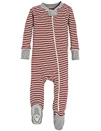 Unisex Baby Sleeper Pajamas, Zip Front Non-Slip Footed...