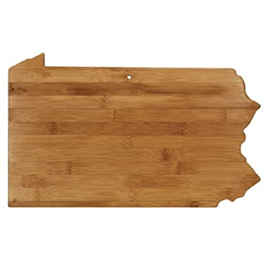 Totally Bamboo State Cutting & Serving Board, Pennsylvania, 100% Bamboo Board for Cooking and Entertaining