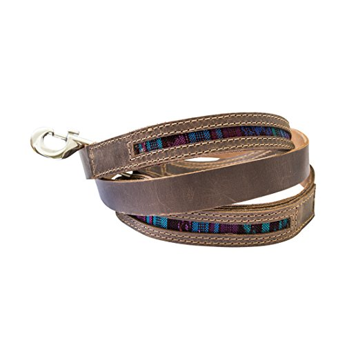 Rustic Mayan Dog Leash (6 feet) Handmade by Hide  Drink :: Tropical Blue