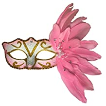 RANDER Feather Lace Masks Masquerade (Birthday Halloween, Christmas Costume Party)