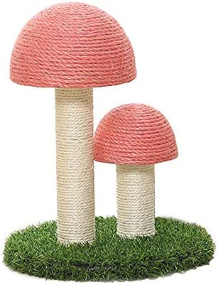 GREENWISH Cat Scratching Post, The Mushrooms Cats Scratcher, Sisal Rope Kitten Tree Tower Scratch Pole Claws Care Cats Scratching Toy Furniture Scratch Deterrent Accessories for Cats,Pets