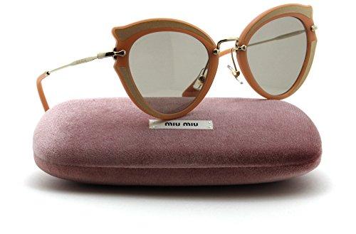 Miu Miu MU 05SS NOIR Collection Butterfly Women Silk Sunglasses (Light Brown Lens VHZ5J2, - Eyewear Miumiu