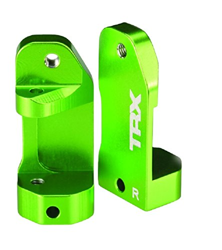 Traxxas 3632G Green-Anodized 6061-T6 Aluminum Caster Blocks (pair)