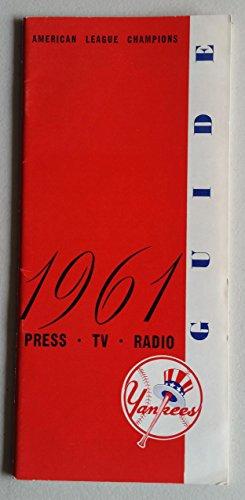 1961 New York Yankees Media Guide (40 pg) - World Championship Season Near-Mint [Very clean] ()