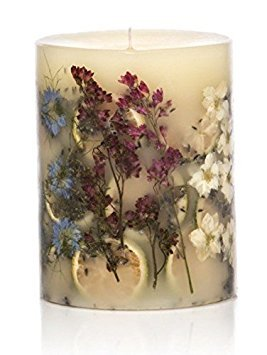 (Rosy Rings Small Round Botanical Candle - Roman Lavender )