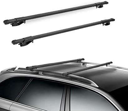 Amazon Com Sl Hermosa 48 Universal Roof Rack Cross Bars Luggage Carrier With Roof Side Rails Roof Top Rail 48inch Black Automotive
