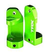Traxxas 3632G Aluminum Caster Blocks, Left and Right, Green, Electric 2WD Vehicles