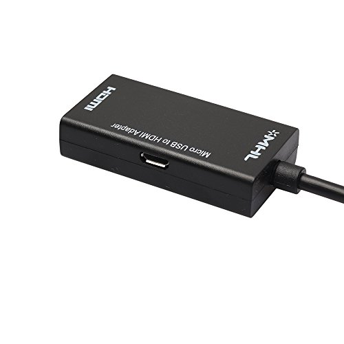 JBingGG Micro USB to HDMI MHL Adapter in Black 1Ft Charger Cable
