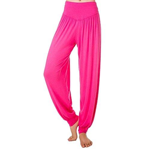 BIRAN Tempo Pantaloni Harem Sciolto Eleganti Vita Donna Pantaloni Accogliente Elastica Colori Lanterna Estivi Solidi Danza Grazioso Pantaloni Pantaloni Libero Rose Pluderhose Yoga Fashion Di rrxqSwH1