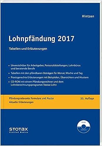 Lohnpfändung 2017 Tabellen Und Erläuterungen Amazonde Udo