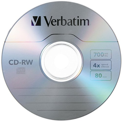 Verbatim Cd Rw 700mb 2x 4x With Surface 25 Disc Spindle