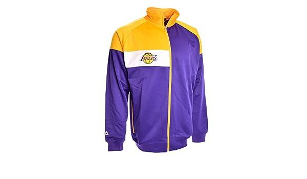 Los ángeles Lakers Color Block Chaqueta para hombre (morado ...